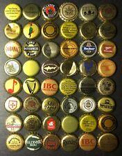 48 GOLD & BRONZE beer & soda bottle caps: some craft microbrew rare European (N)