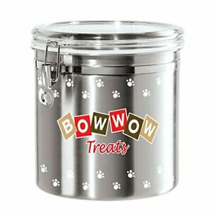 Oggi Jumbo Airtight Stainless Steel Pet Treat Canister, 130 oz, Silver 8314