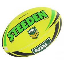 Steeden NRL Size 5 Ball in Two-Tone Neon Lime/Neon Yellow Rugby League Football