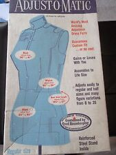 NIB Vintage PERFECT FIT ADJUST-O-MATIC Adjustable DRESS FORM - 1970's