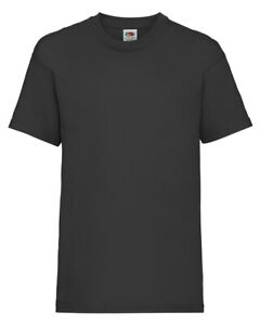 Kids Plain T-Shirt • Fruit of the Loom Value Children's Tee • FREE DELIVERY