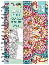 2017 2018 A5 Week To View Spiral Bound Academic Student Diary - Colour Your Own