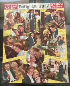 Daily Mail Prize Jigsaw. Film Favourites. Boxed And Complete.