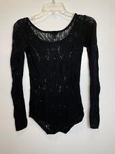 Women's Express Black Open Stitch Thin Knit Sweater- XS