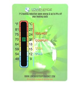 Energy Saving Thermometer Temperature Eco Card LCD Laminated baby nursery Room