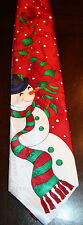 YULE TIE GREETINGS by Hallmark Holiday Neck Tie ~ Snowman