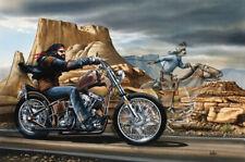 Ghost Rider David Mann Motorcycle Art Silk Poster Wallpaper 17x24 24x35inch