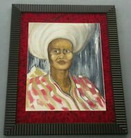 2007 Signed Ribera Untitled/ African Caribbean Woman Portrait Art Painting