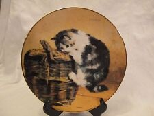 """A Curious Kitty"" Victorian Cat Capers Collectors Plate 8"""