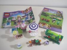 LEGO FRIENDS BUNDLE (3930) Stephanie's Outdoor Bakery (41020) Hedgehogs Hideaway