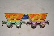 Marx, Lionel) Prewar O Gauge Bunny Train Hopper Cars