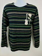 Osklen Guitar Rock Rose Crew Sweater Striped Size M