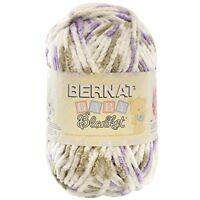 Bernat Baby Blanket Yarn - (6) Super Bulky Gauge - 10.5 Oz - Lilac Dove - -