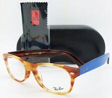 NEW Rayban Rx Frame RX5184F 5799 52mm Tortoise Blue AUTHENTIC Wayfarer Classic