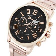 Neu Mode Herren Damen Uhren Gold Edelstahl Analog Quarz Casual Armbanduhren Uhr