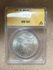 1897 Morgan Silver Dollar, MS63, ANACS