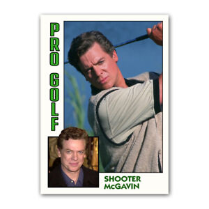 Shooter McGavin Happy Gilmore Professional Golf Comedy Trading Card Reprint ACEO