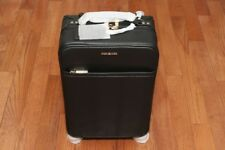 New Michael Kors Travel Trolley 4-Wheel Large Carry On Leather Suitcase Black