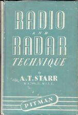 Radio & Radar Technique by A T Starr (HB,1953) KAC