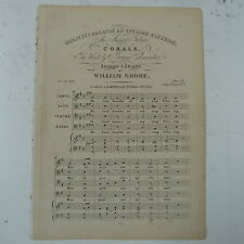 antique songsheet WILLIAM SHORE holiest breathe an evening blessing SATB