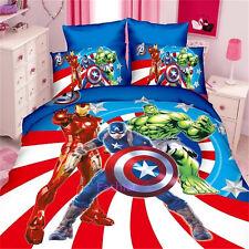 The Avengers Single Size Bed Quilt Doona Duvet Cover Set Bedding Pillow Case