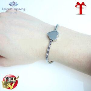 Unique Engraved 'Artemis' Heart Charm Bracelet FREE Engraving and UK Postage