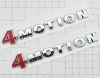 2X 4MOTION Emblem Sticker Logo Decal for VW Golf Tiguan Passat Transporter CC