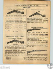 1936 PAPER AD Savage Ithaca Double Barrel Shotgun LC Smith Iver Johnson .410