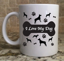 Ceramic Coffee Tea Mug Cup11oz Doberman Pinscher I Love My Dog Great Gift New