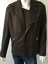 NWT Mens Joe's Jeans Commodore Wool Blend Coat Peacoat Jacket Olive Size L