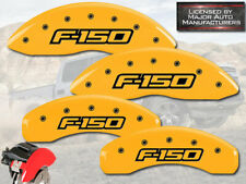 "2012-2014 Ford F150 ""F-150"" Front + Rear Yellow MGP Brake Disc Caliper Covers"