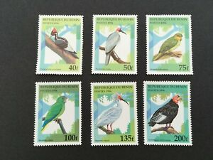 1996 Republique Du Benin Postes Africa Bird Stamps Set of 6 MINT M259