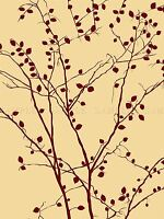 RED TREE LEAVES BRANCHES PHOTO ART PRINT POSTER PICTURE BMP1511A