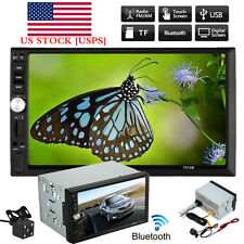 """7"""" Double 2DIN Car MP5 MP3 Player Bluetooth Touch Screen Stereo Radio HD  Camera"""