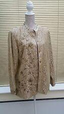 CLASSICS Talla 18 Mujer Damas Chaqueta de encaje de oro hermoso de vestir ropa de ocasión