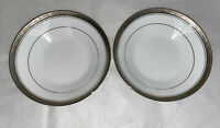 noritake contemporary Majestic Platinum Soup Bowl 7.5 Inches *4291* Pair