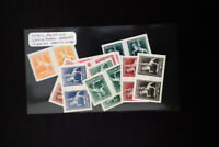 Argentina Stamps Lot of 10 Early Pairs of Color Proofs