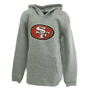 San Francisco 49ers Official NFL Kids Youth Size Hooded Sweatshirt New with Tags