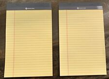 2 Pack Junior Writing Pads Narrow Ruled 5 X 8 Canary Paper 50 Sheets Notepad