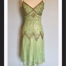 Gorgeous Vintage Flapper Style (1920's) Adrianna Papell Silk Dress 4
