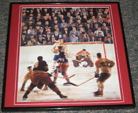 Jacques Plante Canadiens Fight Framed 12X12 Poster Photo