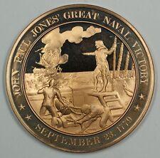 History of the U.S. John Paul Jones Naval Victory (1779) Proof Bronze Medal