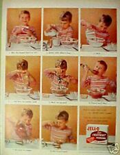 1955 Jell-O Litttle Boy Kid Egg Beater Cooking Kitchen Collectible Trade Ad