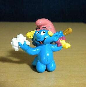 Smurfs 20448 Bathing Girl Smurf Baby Smurfling Vintage Figure Toy PVC Figurine