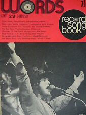 WORDS RECORD SONGBOOK MAGAZINE 1/8/73 - SLADE - GEORGE HARRISON