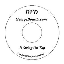 GeorgeBoards D String On Top for the Lap Steel Guitar C6th tuning lesson DVD new