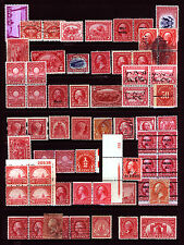 #65-O17 Nice Reds Lot 1861-1952 Odds n Ends Fresh VF *MNH* & Used 40 items