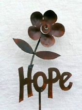 Iron Cut Metal Word Hope Plant Stake Garden Outdoor Lawn Yard Patio Home Decor
