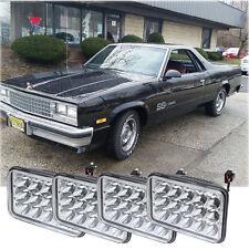 "4Pcs 4X6"" LED Headlight Bulbs Crystal Clear Sealed Beam Fit Chevrolet El Camino"