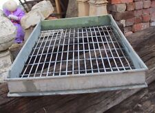 Large Vintage Galvanised Baker's Bread Trays / Crate Shabby Chic